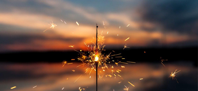 sunset sparkler